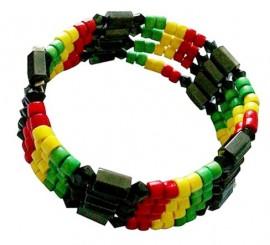 Hematite Magnet Rasta Bracelet/Necklace