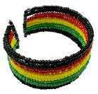 Rasta Beads Cuff Bracelet