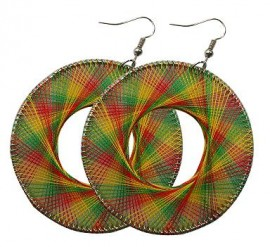 Rasta Colored Dream Catcher Earrings