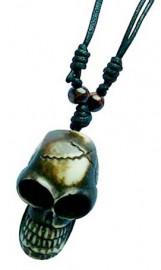 Resin Skull Pendant Necklace