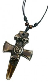 Resin Cross Pendant Necklace