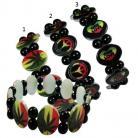 Oval Rasta Style Bracelet